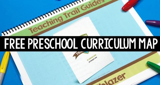Free Preschool Curriculum Map