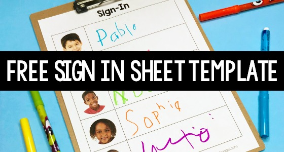 Free Daily Sign In Sheet for Preschool