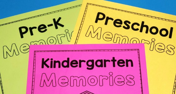 Preschool Memory Book Printable for the End of the Year