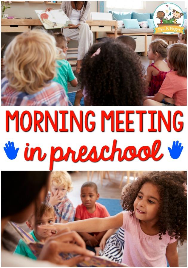 Morning Meeting Ideas for Preschool Classroom