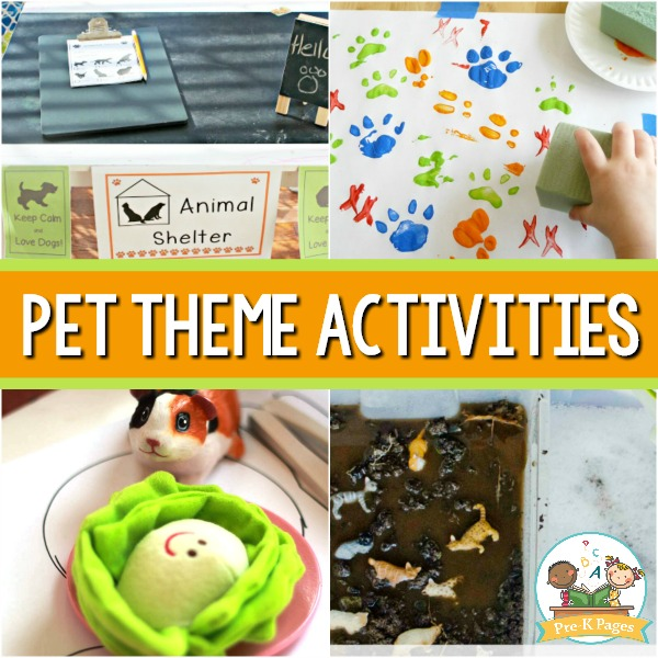 Pet Themed Activities for Preschoolers