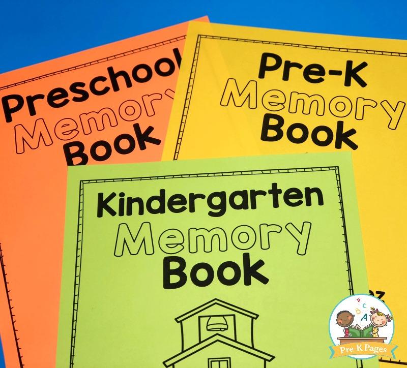 Kindergarten Memory Book Cover Printable : Preschool memory book printable for the end of year