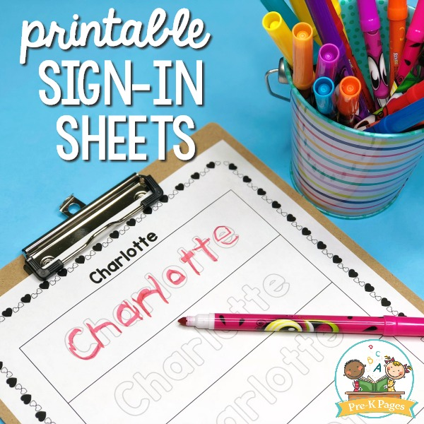 Printable Sign In Sheets for Preschool 1