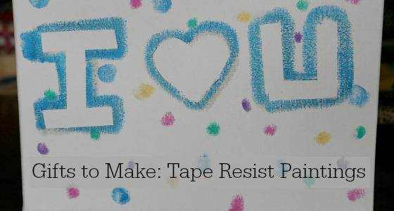 Gifts to Make: Tape Resist Paintings