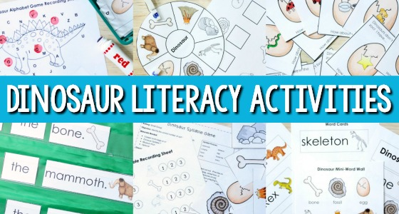 Dinosaur Literacy Activities for Preschool