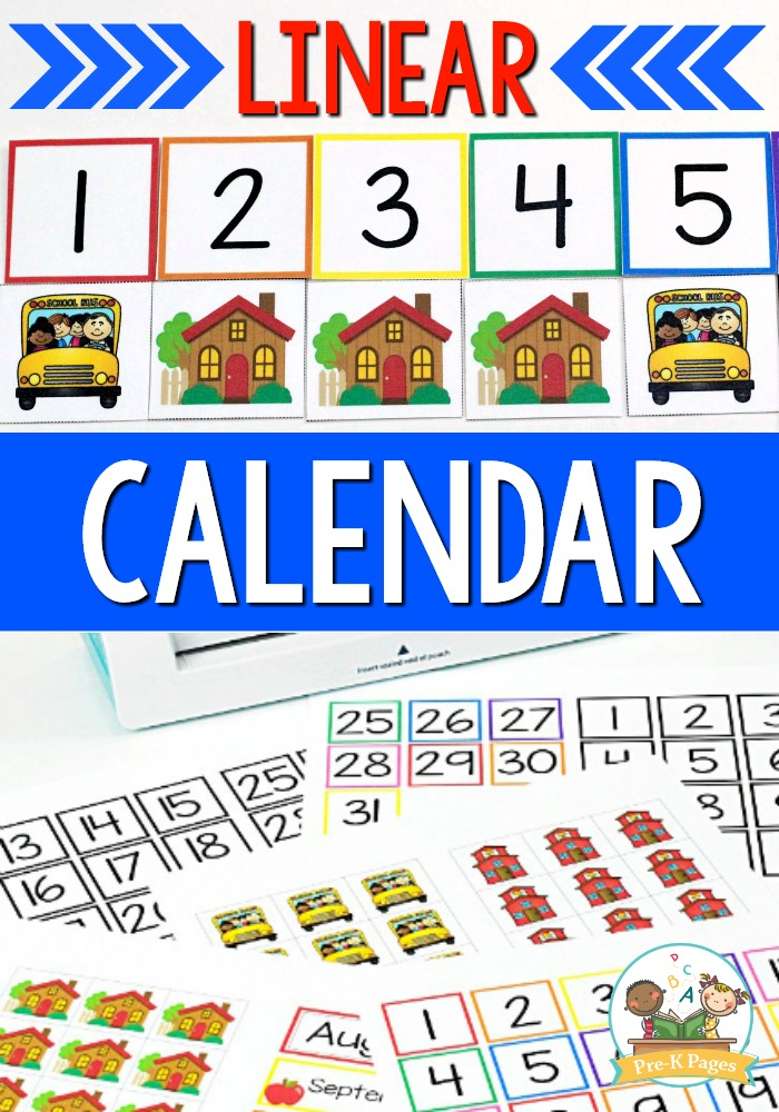 Linear Calendar Preschool : How to make and use a linear calendar in preschool pre k