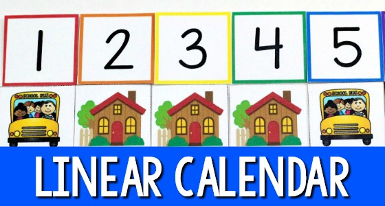 Linear Calendar Preschool : Pre k math one to correspondence activities for preschool