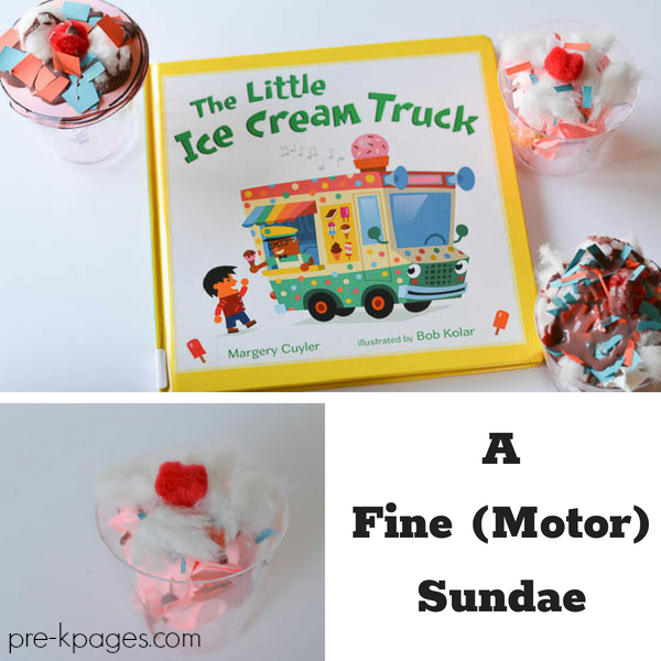 Fine Motor Ice Cream Sundae