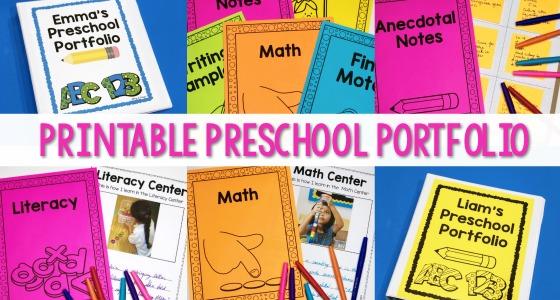 Preschool Portfolio Cover