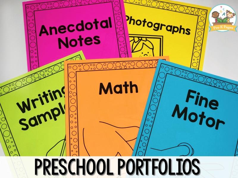 Preschool Portfolio Printables