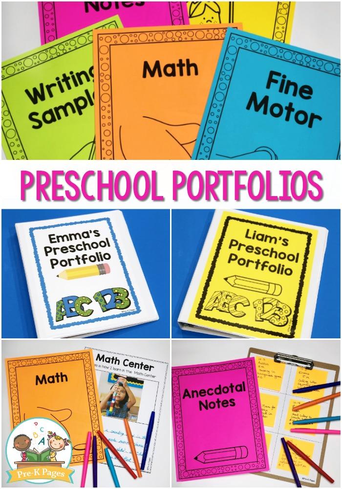 Printable Preschool Portfolio Ideas