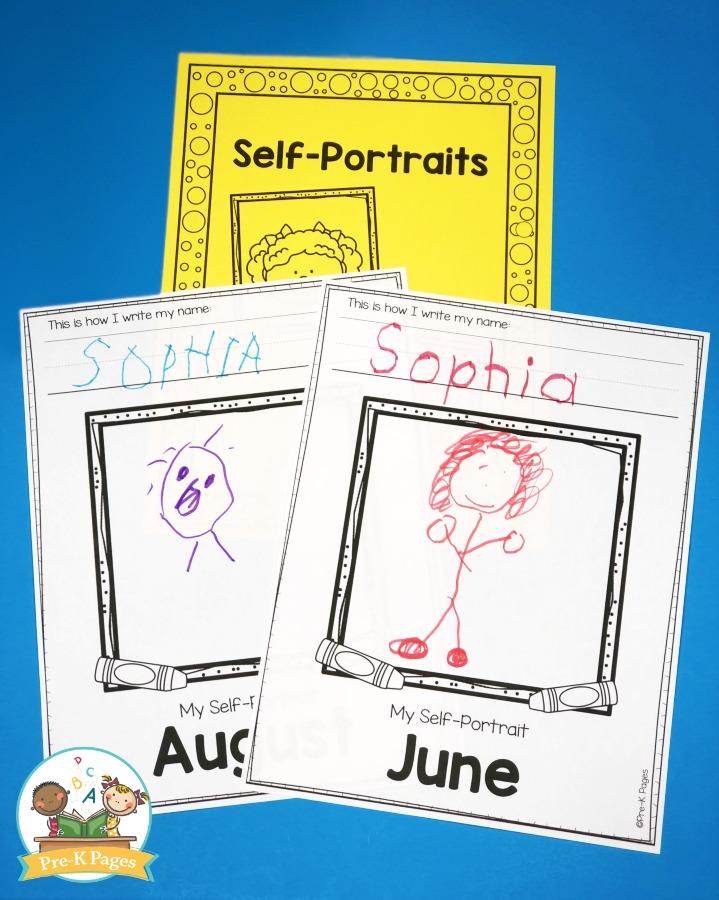 Self Portrait Journal for Preschool