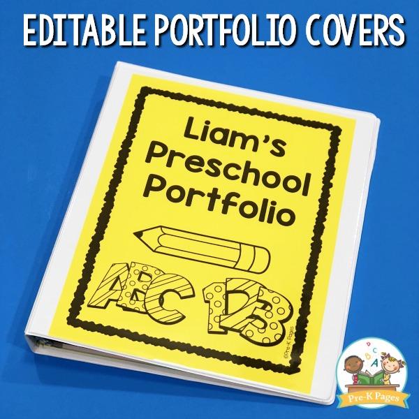 Preschool Portfolio Ideas