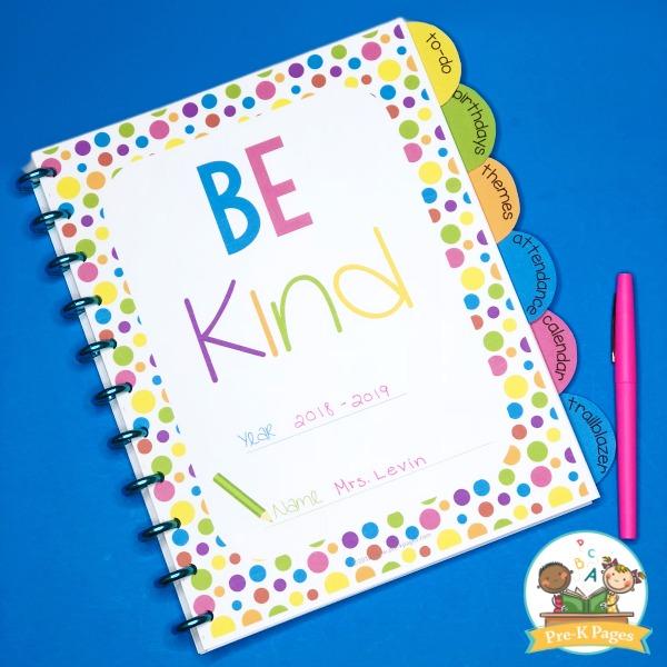 Be Kind Printable Teacher Planner
