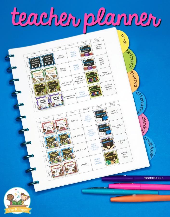 Preschool Curriculum Map Printable