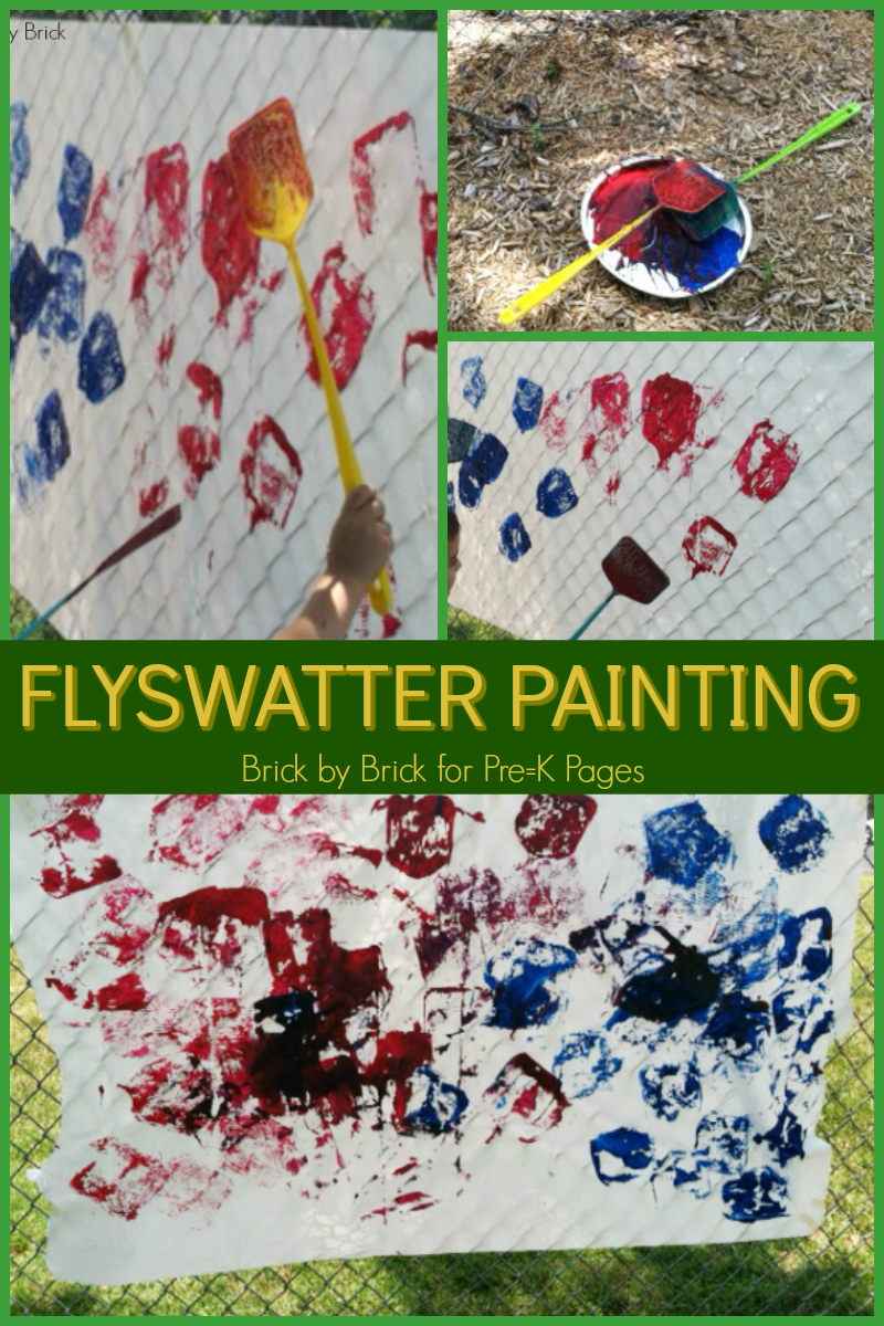 Painting with Flyswatters for Preschoolers - Pre-K Pages