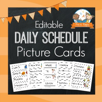 Picture Schedule Cards - Blue - Pre-K Pages
