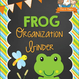 Frog Organization Binder