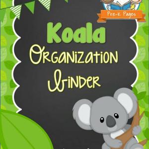 Koala Organization Binder