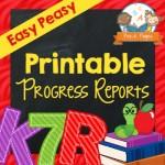 Printable Progress Reports for Preschool