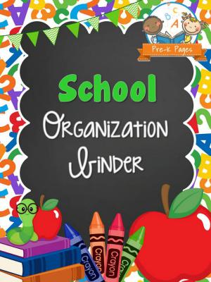School Organization Binder Pre K Pages