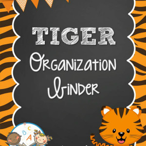 Tiger Organization Binder