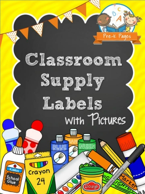 Printable Classroom Supply Labels for Preschool and Kindergarten Teachers