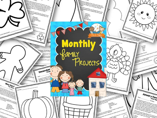 Printable Family Projects for Preschools