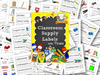 Printable Classroom Supply Labels Pre K Pages