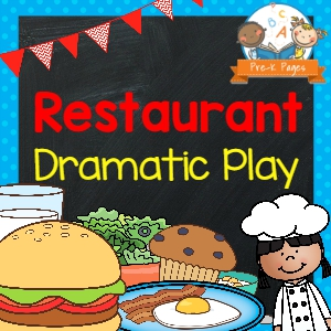 Restaurant Dramatic Play for Preschool and Kindergarten