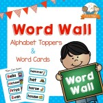 Printable Word Wall Kit for Preschool Blue Polka Dots