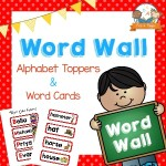 Printable Word Wall Kit for Preschool with Red Borders