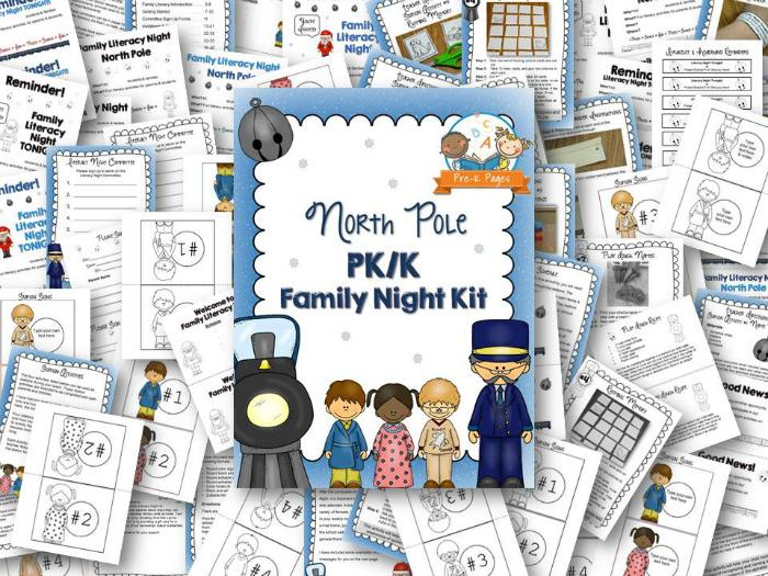 North Pole Theme Family Literacy Night Kit