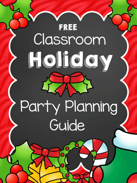 Christmas Classroom Party Planning Guide - Pre-K Pages