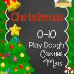 Printable Christmas Play Dough Counting Mats
