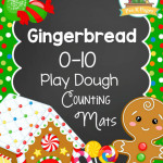 Gingerbread Play Dough Counting Mats