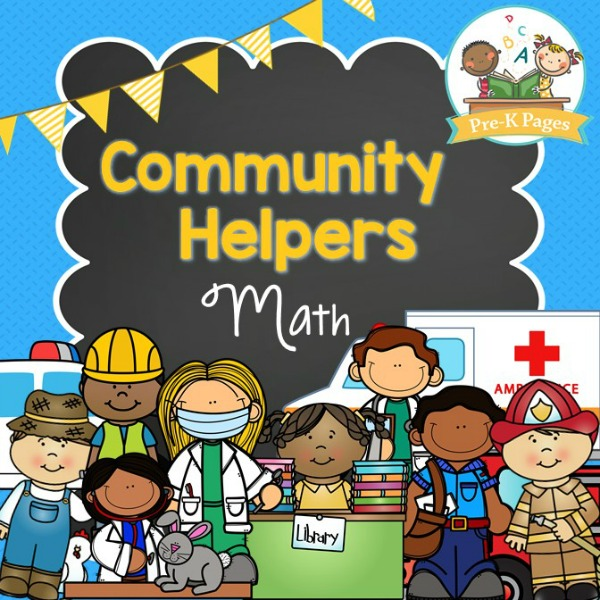 Community Helper Math on Fine Motor Skills Activities For Kids