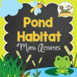 Pond Habitat Math Activities for Preschool