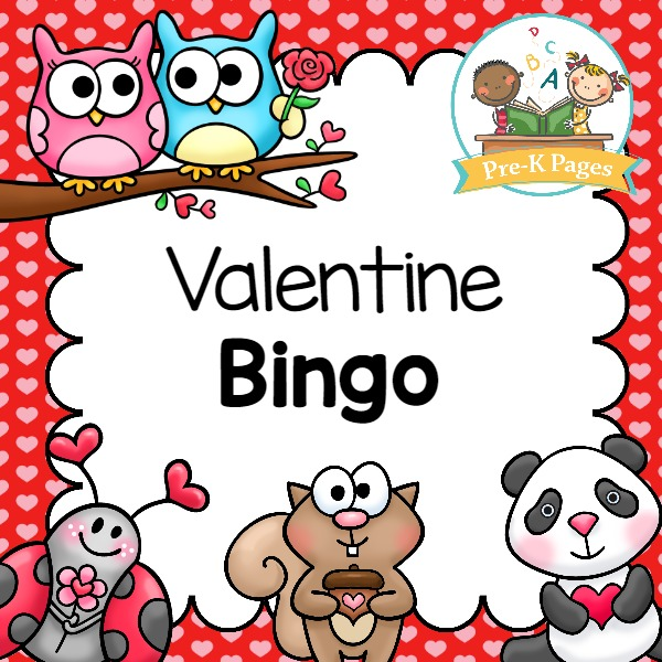 A Fun Printable Bingo Game For A Valentine Party Or Theme In Your Preschool  Or Kindergarten