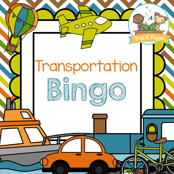 free printable bingo game to go with a transportation theme in your ...