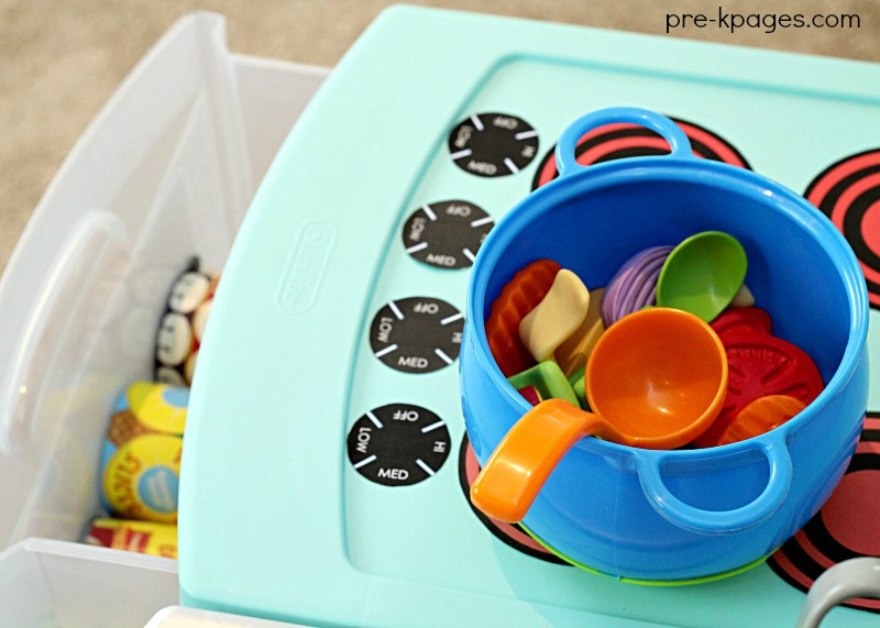 Diy Printable Play Kitchen Props Pre K Pages