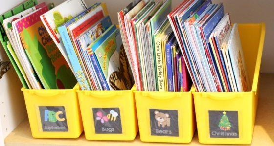 Printable Book Box Labels