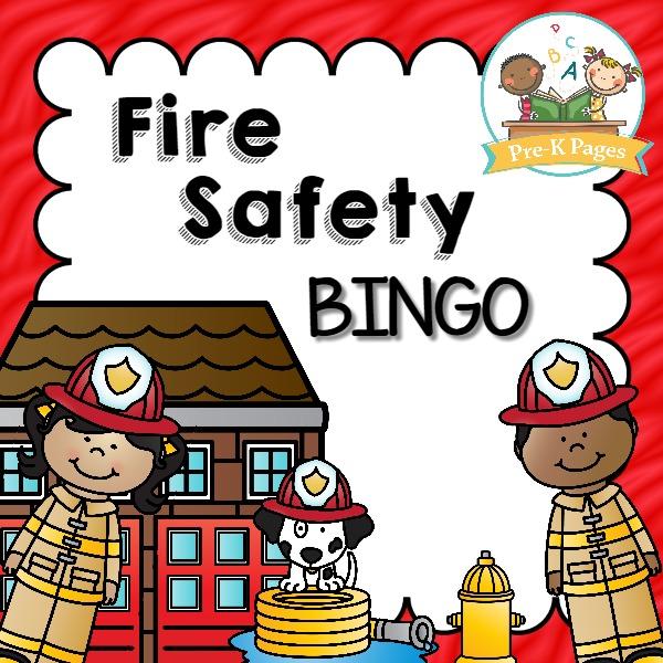 Printable Fire Safety Bingo Game