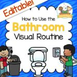 Bathroom Visual Routine Picture Prompts to Help Preschoolers Learn How to Use the Bathroom Independently