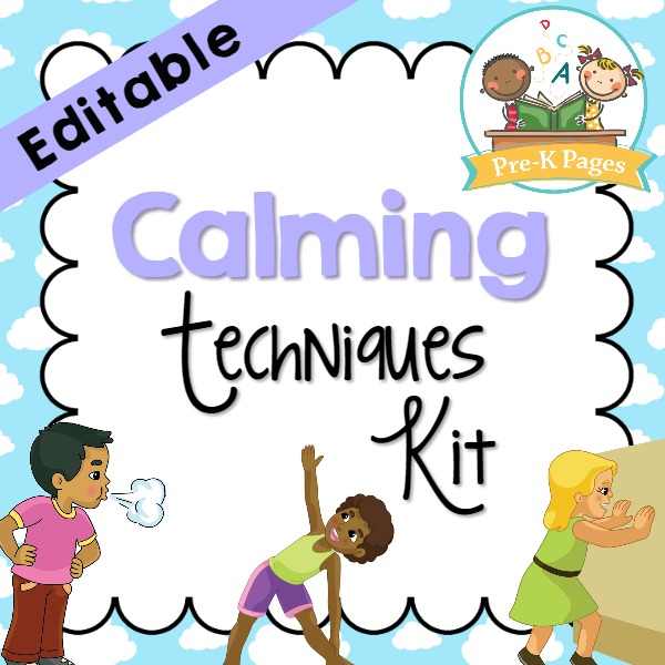 Calm Down Kit Preview Pre K Pages