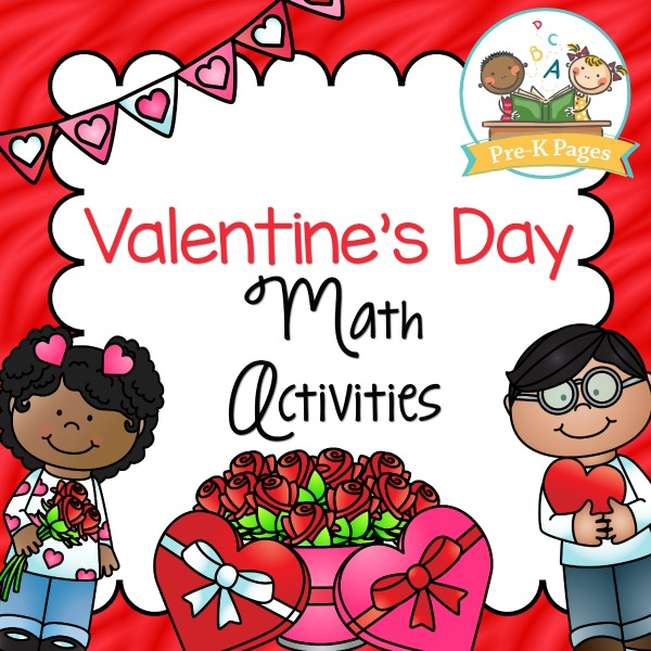 Valentines Day Math Activities  PreK Pages