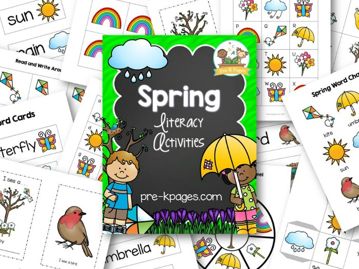 Spring Literacy Activities for Preschool