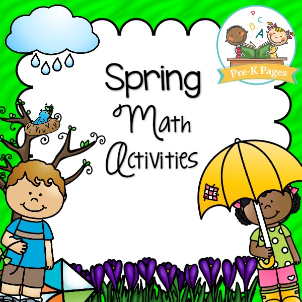spring math activities prek pages