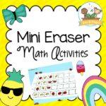 Printable Mini Eraser Math Activities for Preschool and Kindergarten