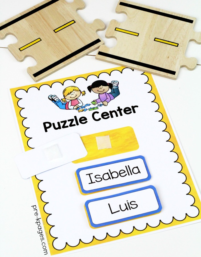 Printable Center Rotation Signs for Preschool with Velcro